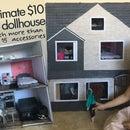 Casa de muñecas de $ 10 con más de 15 muebles / accesorios de bricolaje