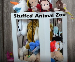 DIY Stuffed Animal Zoo Cage - Organizer