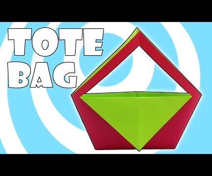 DIY: Paper Origami Tote Bag
