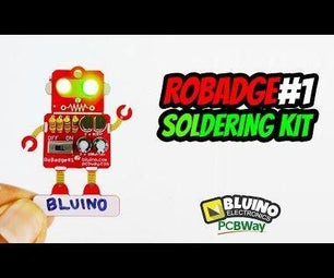 Electronic Badge LED Blinking Robot Badge - Soldering Kit