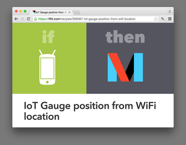 Connecting the Arduino to the IFTTT Maker Channel