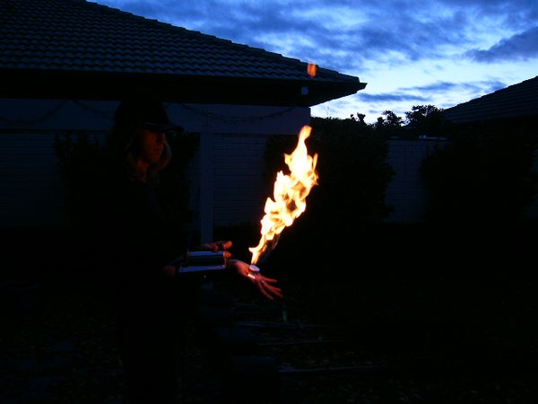 Wrist Mounted Flame Thrower