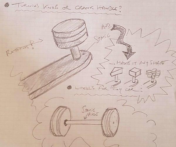 Rotating Knob/wheel/crankhandle