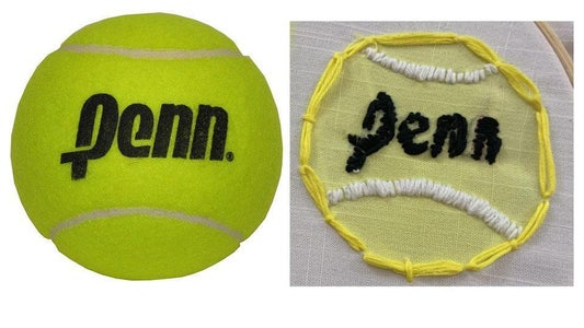 Embroidering on Printed Fabric