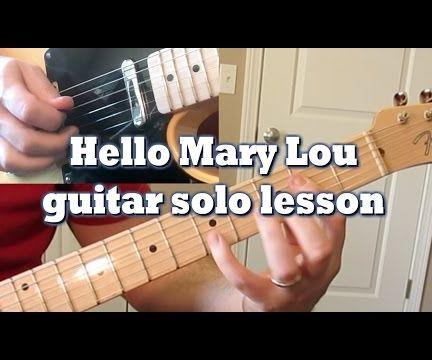 Hello Mary Lou guitar solo lesson