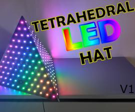 Tetrahedral LED Hat (Deichkind Style) V1