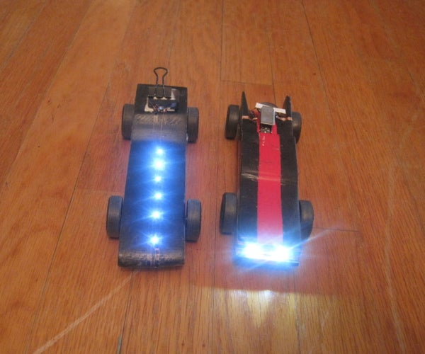 Pinewood Derby Car With Headlights Using Chibitronics