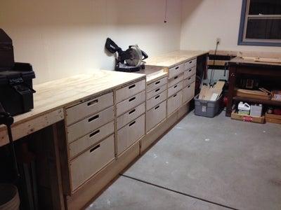Install Bench Tops