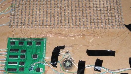 Mount the Circuit Board and Solder to the Matrix.