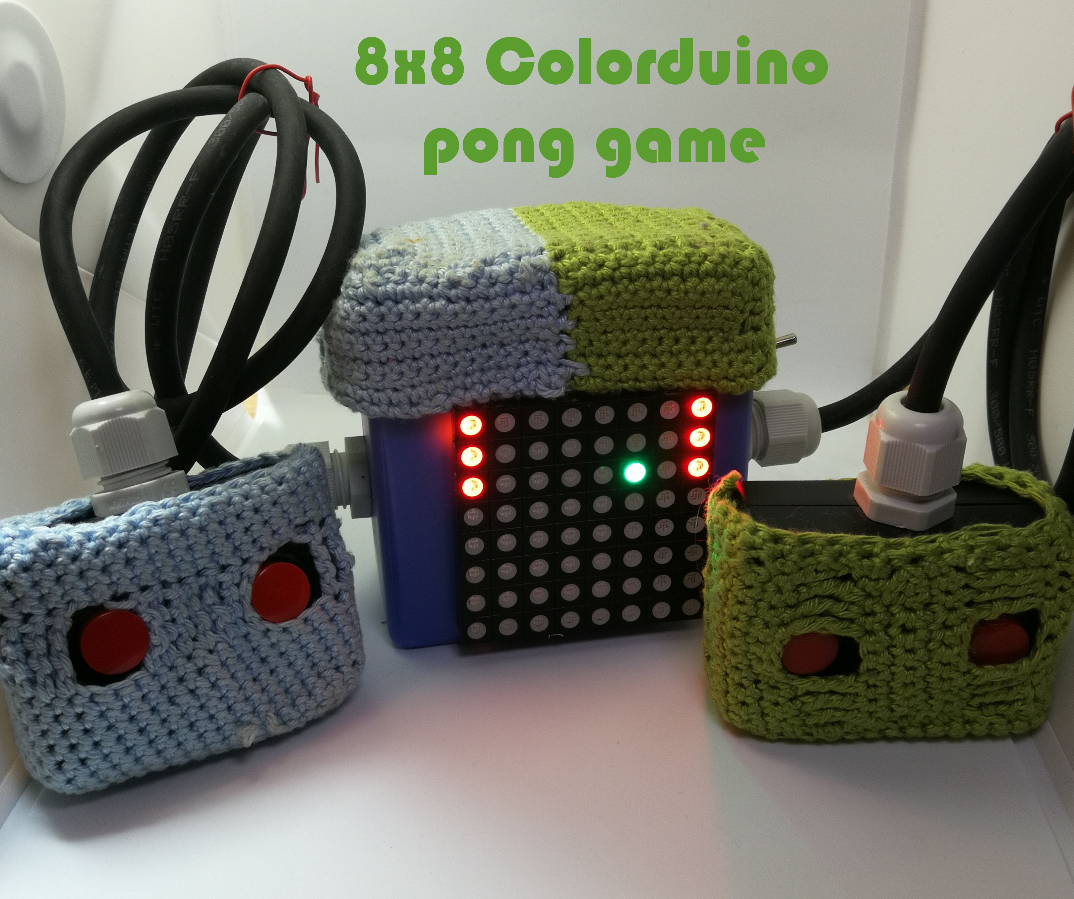 8x8 Colorduino Pong Game