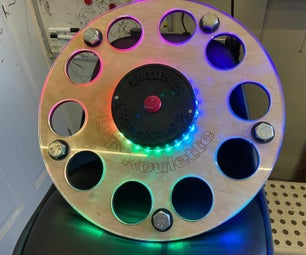 Rainbow LED Roulette Beer Tray