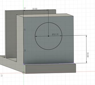 Design Process - Stepper Motor Mount - Bearing Block - Bearing Cutouts