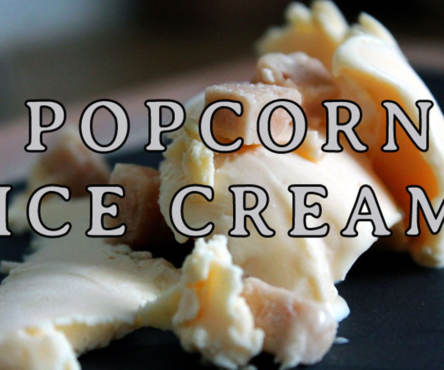 How to make Popcorn Ice Cream