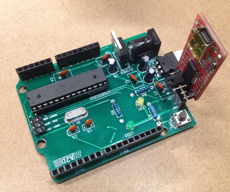 DIY Arduino UNO With Through Hole Components