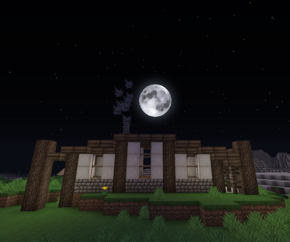 nice minecraft hill house