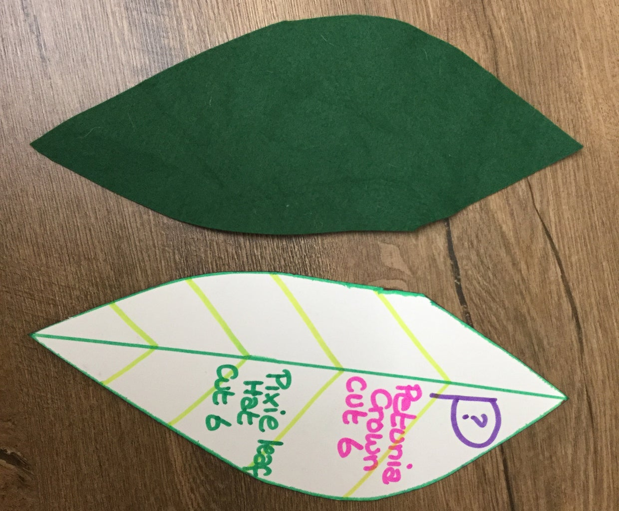 Making the Sepals (leaves)