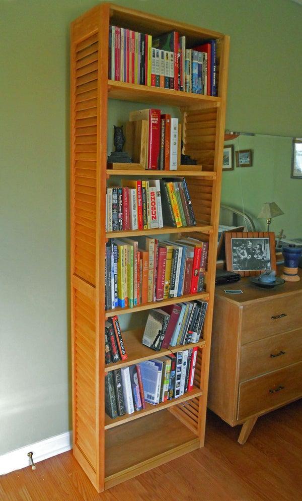 Louvered Plantation Shutter Bookcase