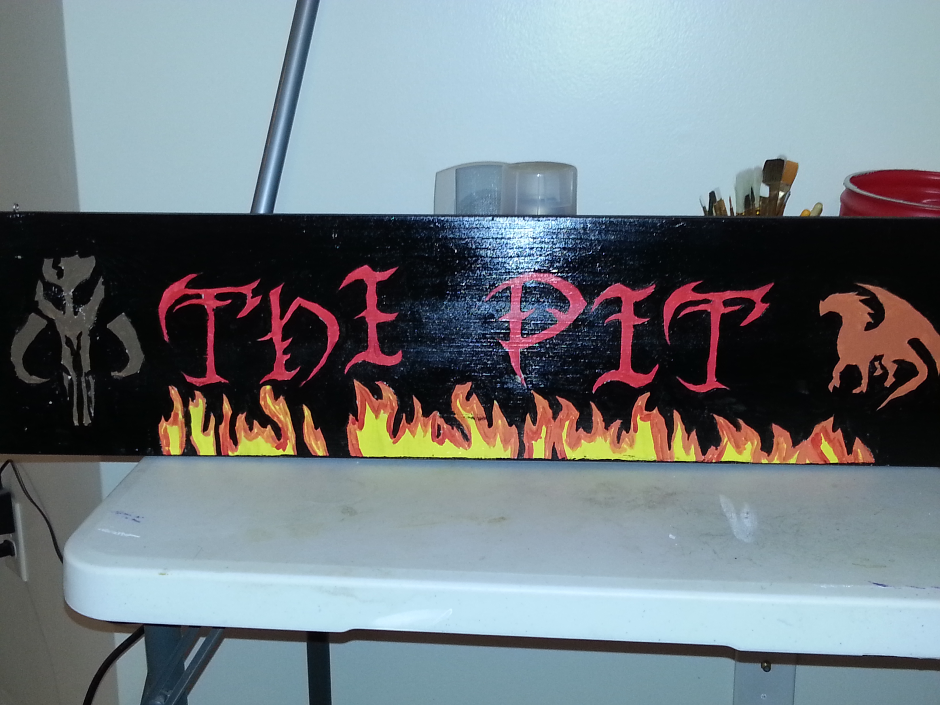Painting a Wooden Sign