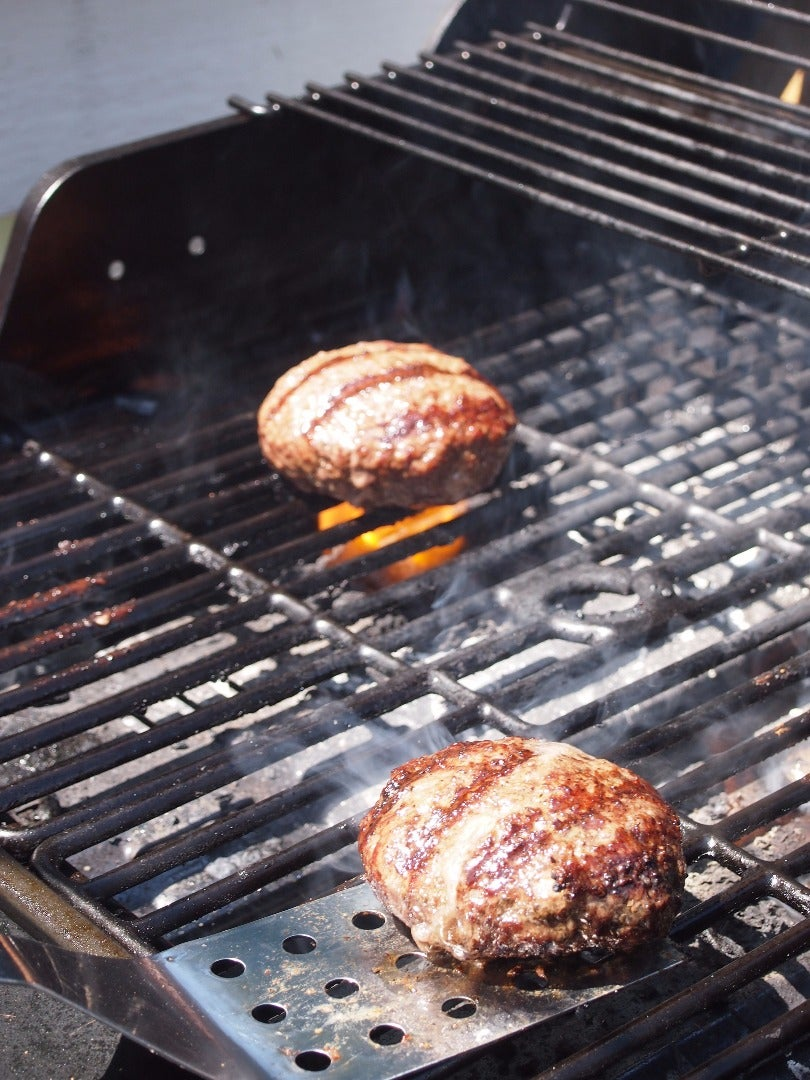 Cooking the Burgers on the Grill