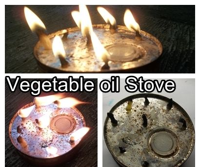 Vegetable oil Stove, Indoor and outdoor use!
