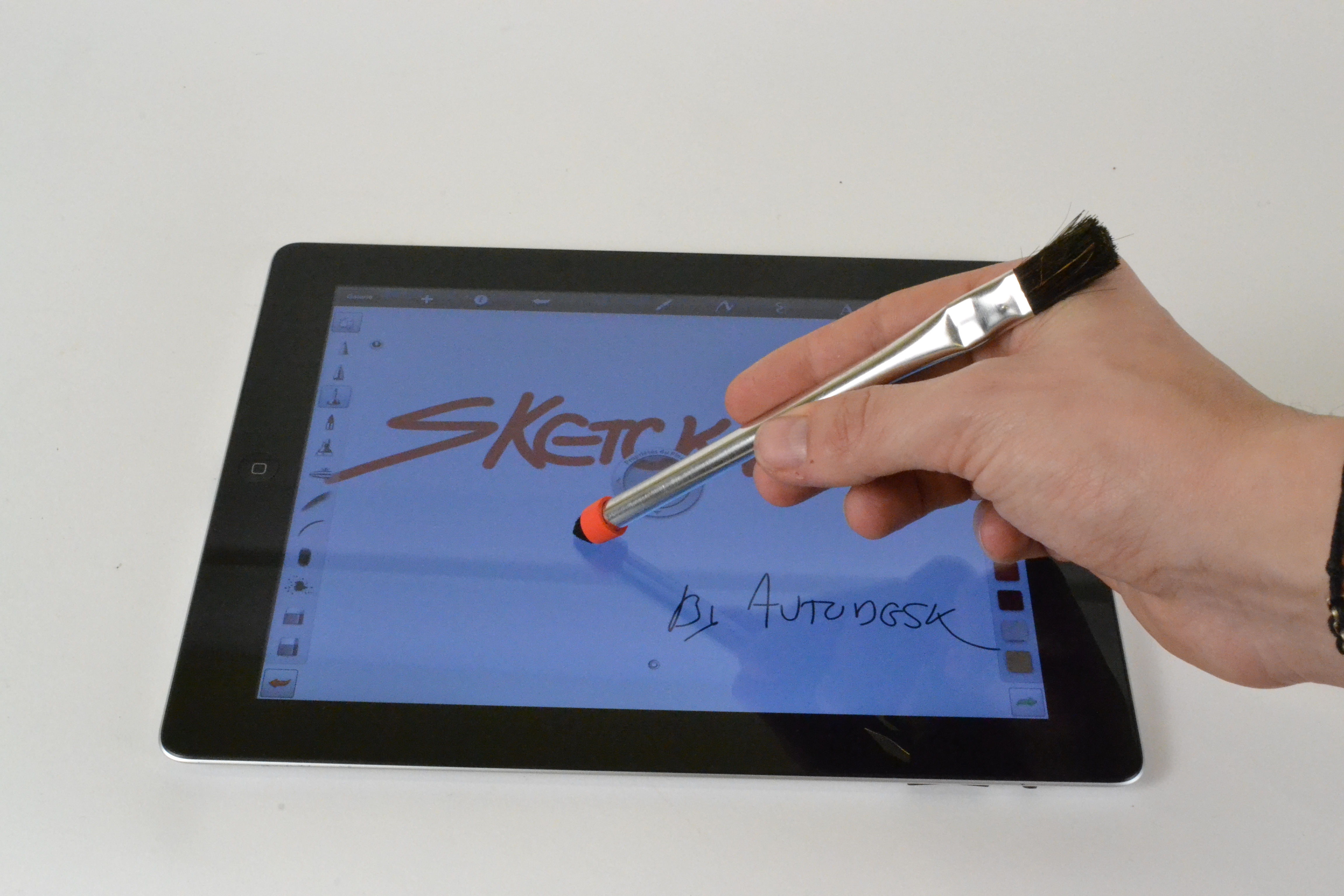 Paint brush stylus for Ipad. Used on Sketchbook PRO!