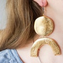 DIY Hot Glue Earrings! | Gold Leaf & Foil Fashion Jewellery