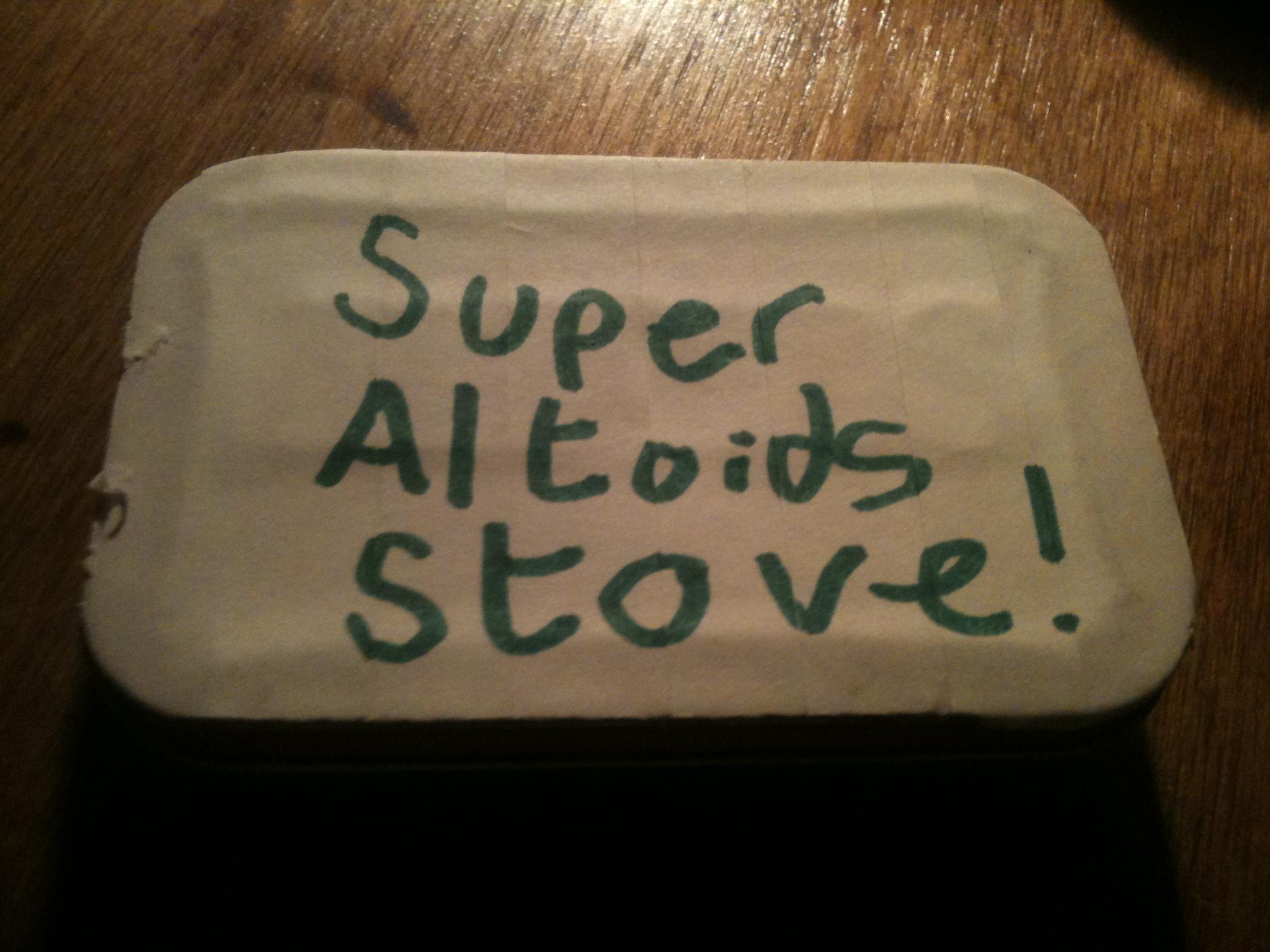 Super Altoids stove