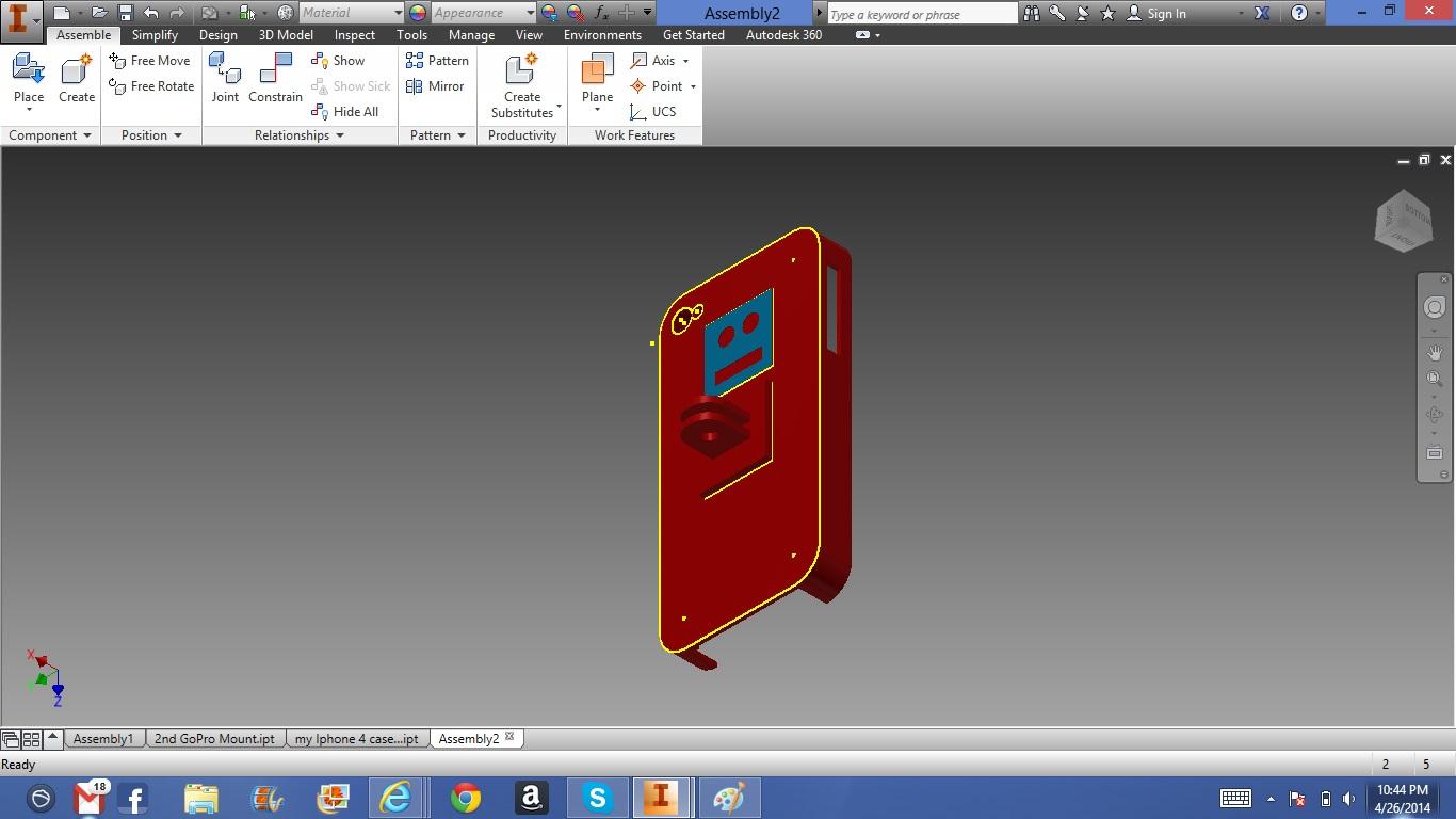 3D Printable GoPro Mount Compatible Iphone Case