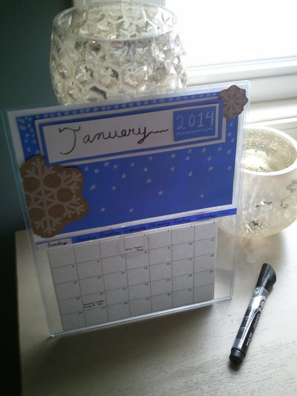 How to Make a Reusable January Snow Calendar