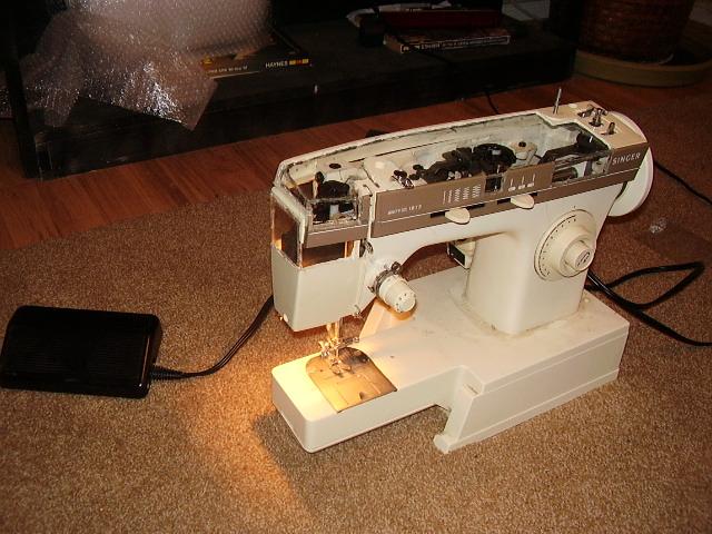 see through sewing machine