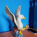 paint a griffin statue