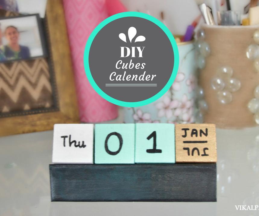 DIY Cubes Calendar