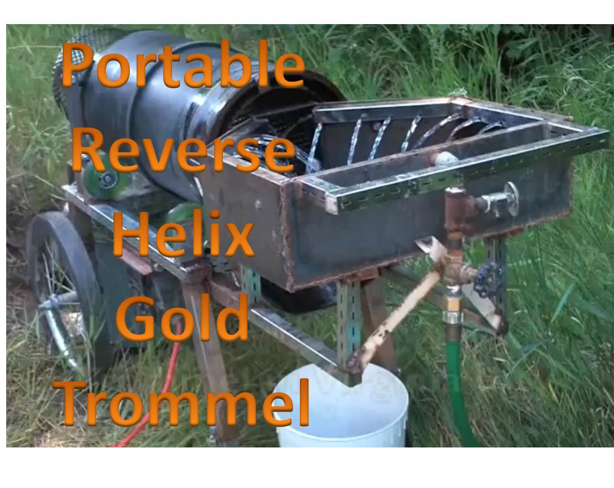 Portable Reverse Helix Gold Trommel