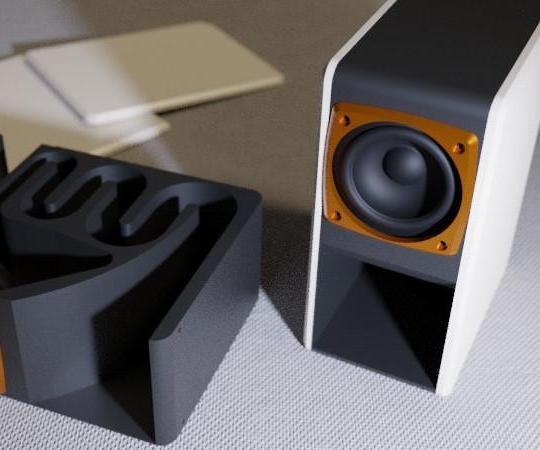 Kissing the Frog V2.0 - Back Horn Bluetooth Speaker Fully Printable
