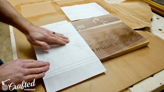 Attach Template Using Spray Adhesive