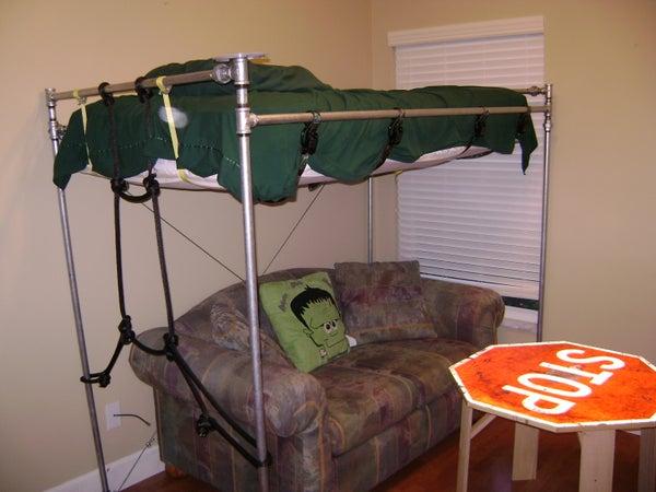 Pipe Loft Bed - Galvanized Steel