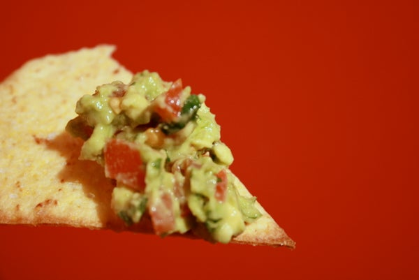 Quick and Easy Tortilla Chips and Guacamole