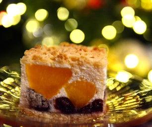 胡桃和桃子圣诞芝士蛋糕