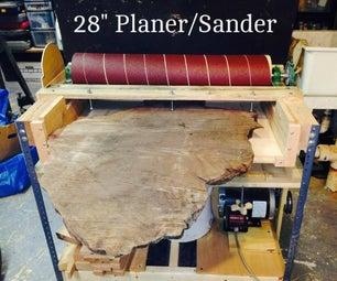 Making a 28 Inch Wide Sander/Planer