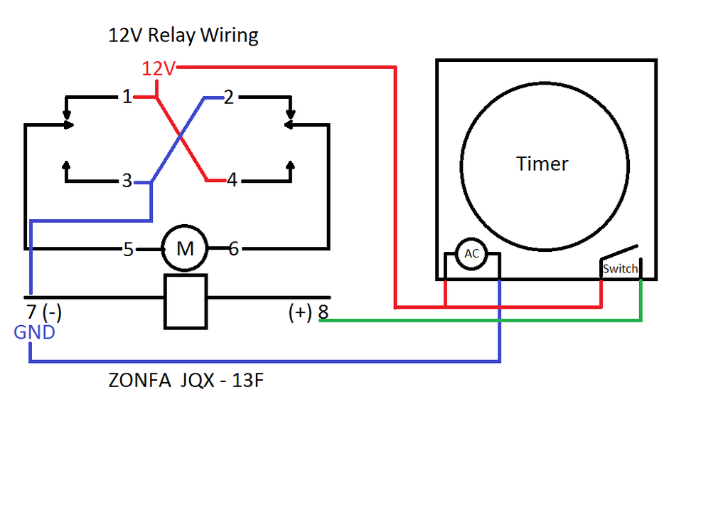 12V Relay With Timer Switch : 4 Steps - Instructables | Dc Timer Switch Wiring Diagram |  | Instructables