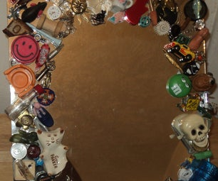 Make a Found Objects Memory Mirror (and Clean Your Junk Drawer)
