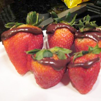 Chocolate Stuffed Strawberries