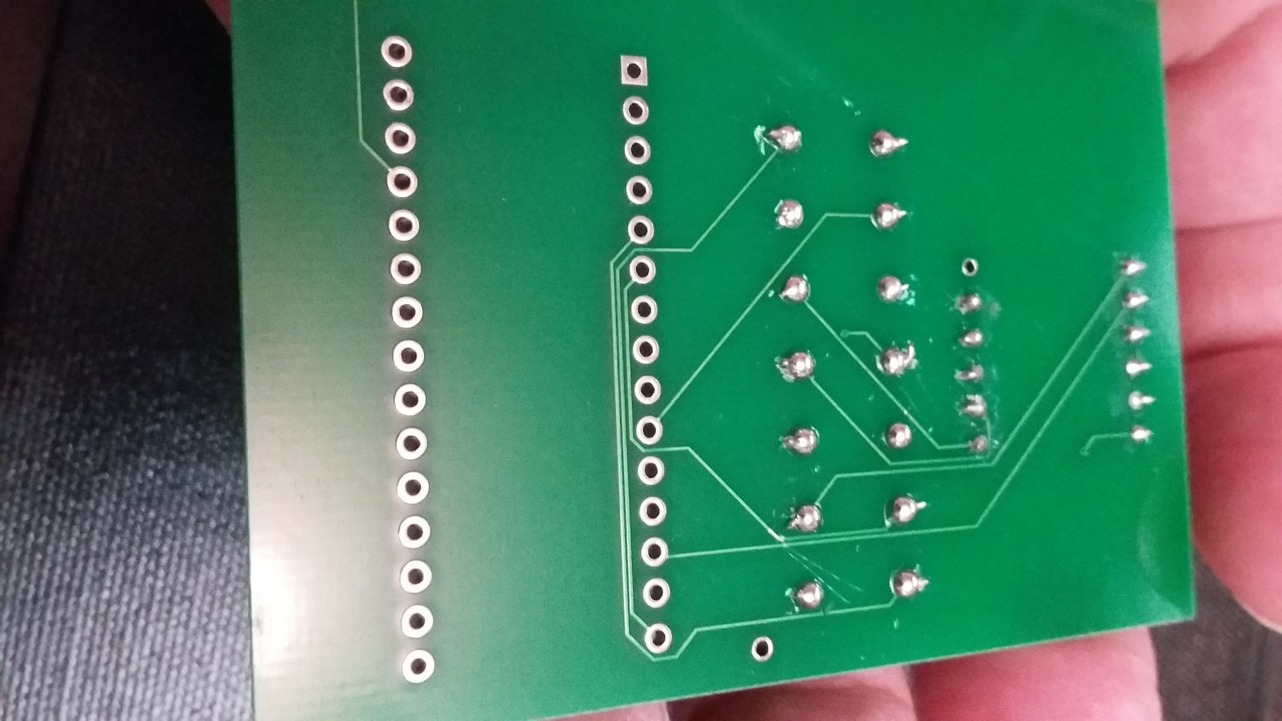 Insert the Resistors of 470 Ohm & 10K