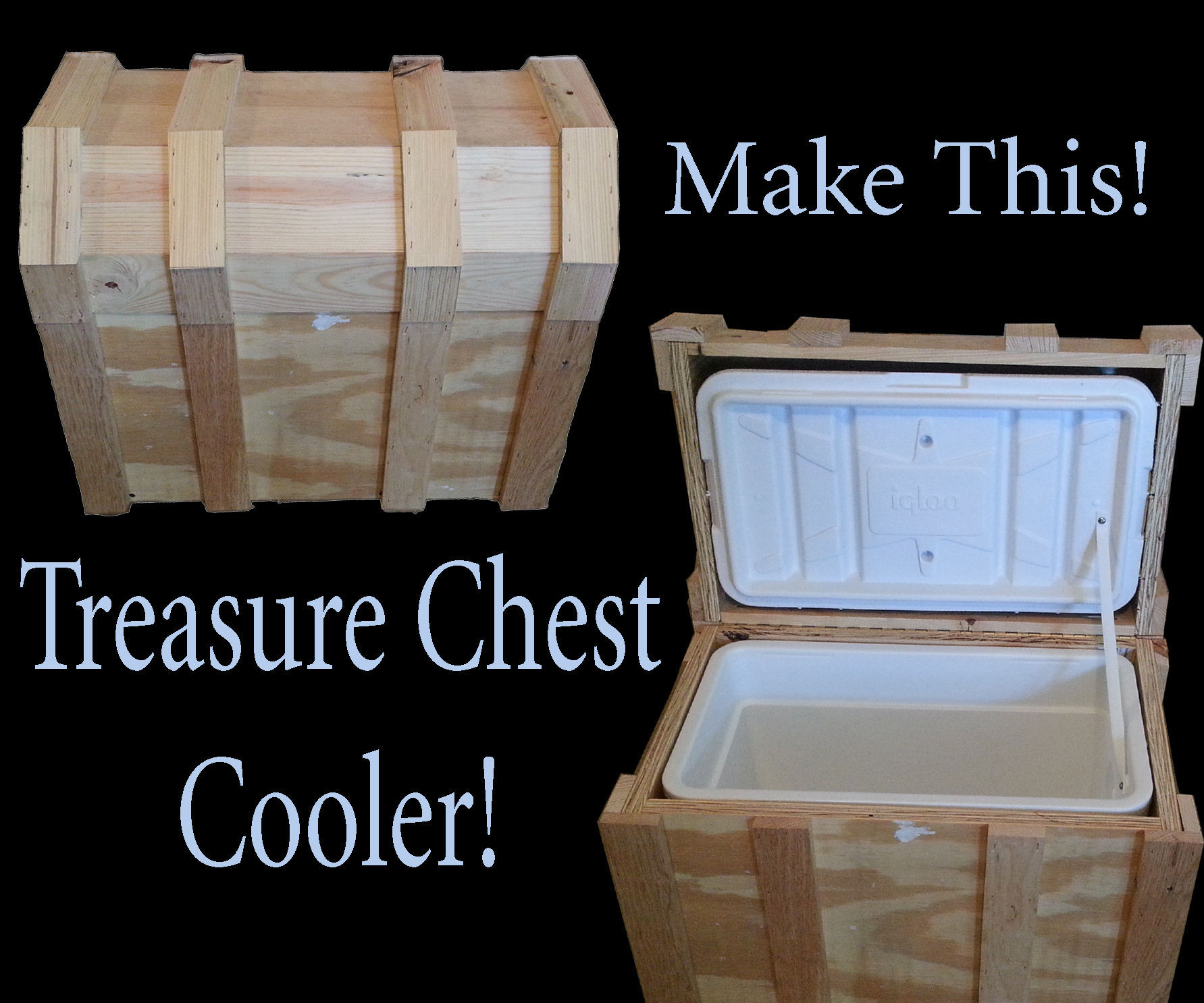 Pirate Chest Cooler Box