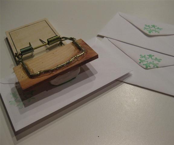 Rat trap with Eraser Ink Stamper