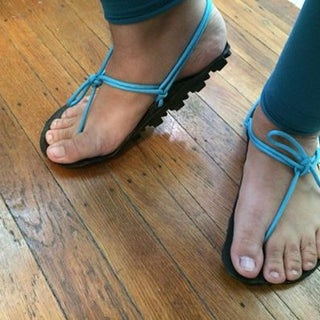Upcycled Minimalist Running Huaraches or Lifestyle Shoes by Tired Feet