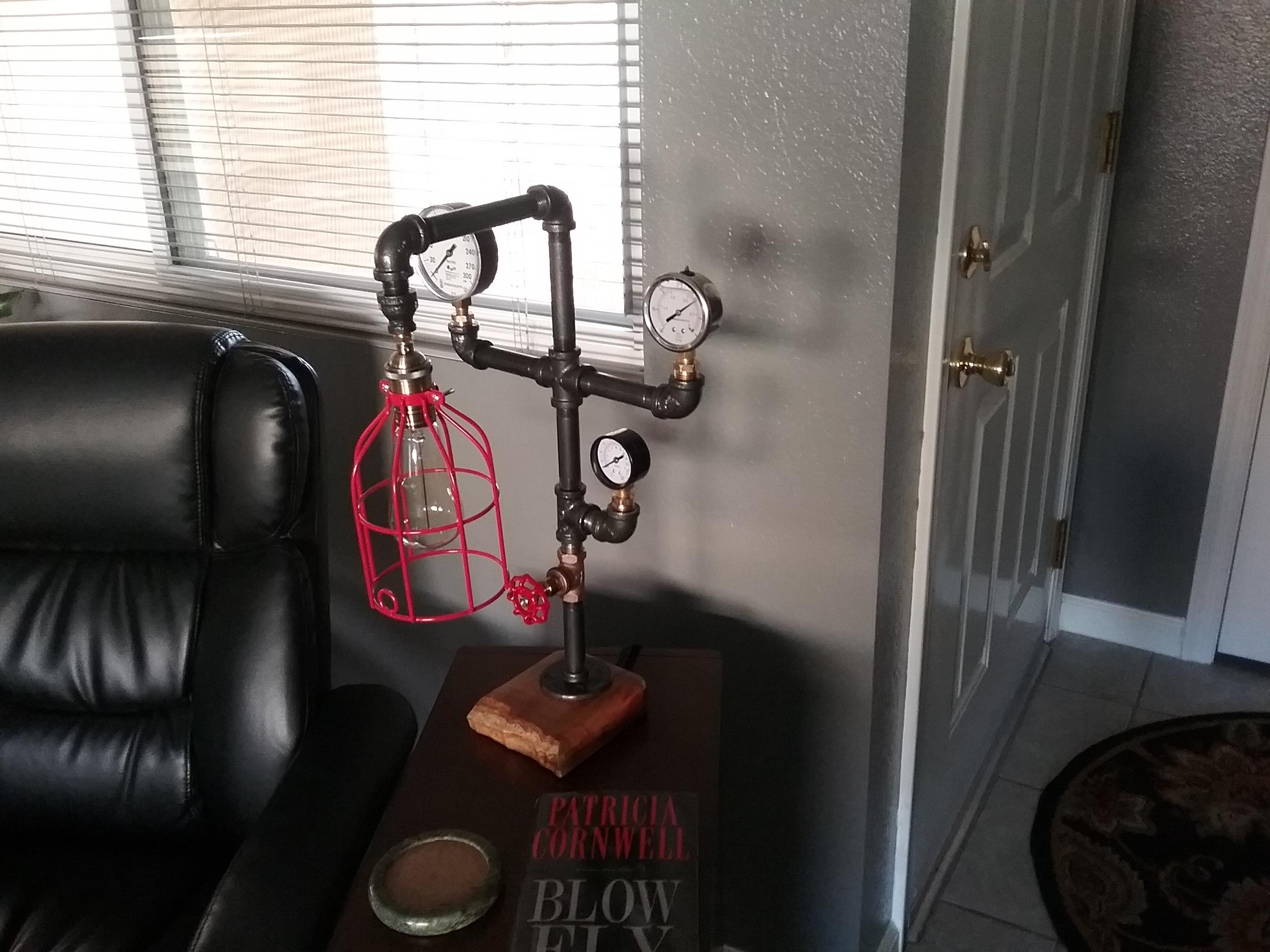 Vintage Style Pipe Lamp