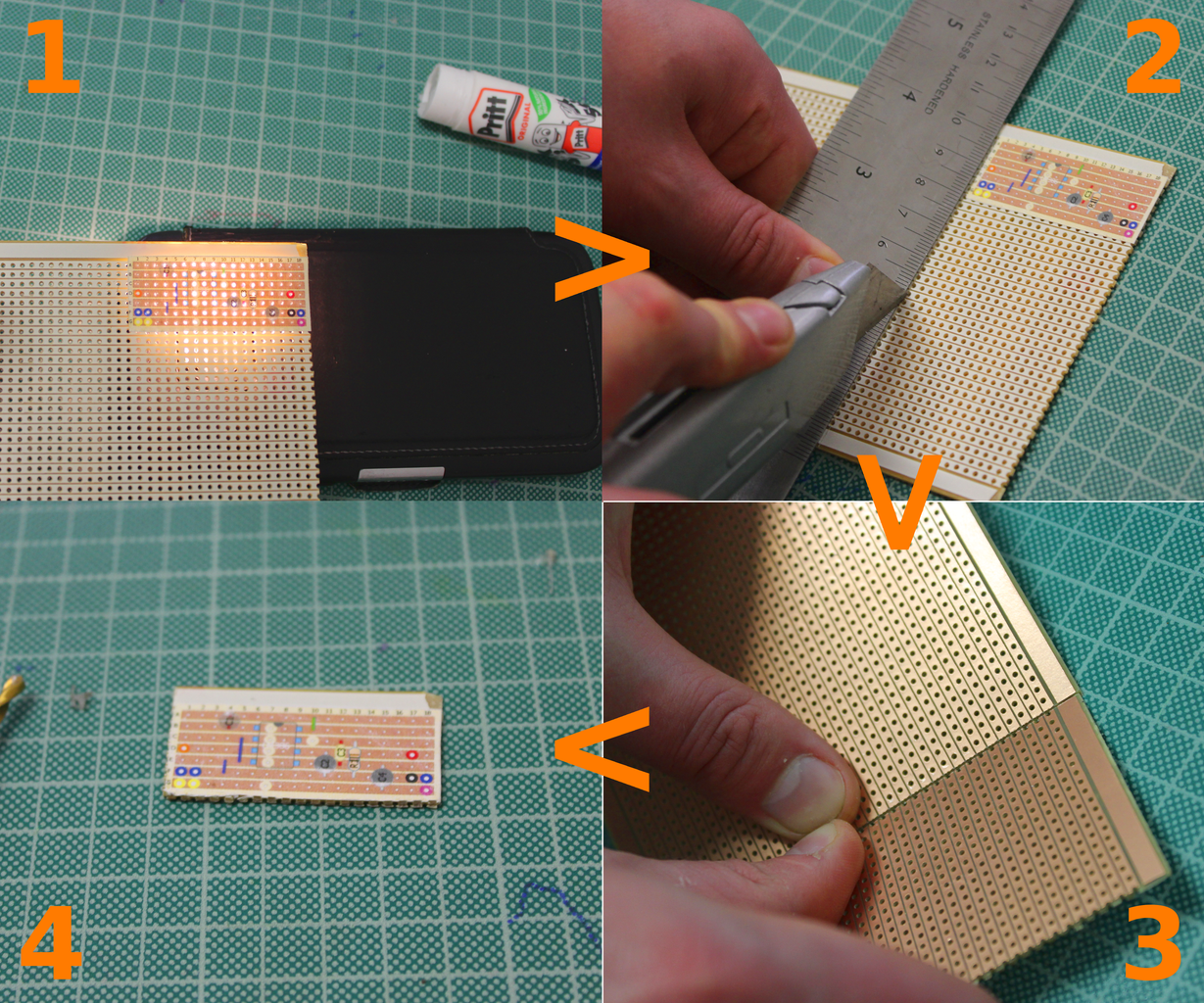 LET'S ATTACH THE OVERLAY AND PREPARE THE STRIPBOARD