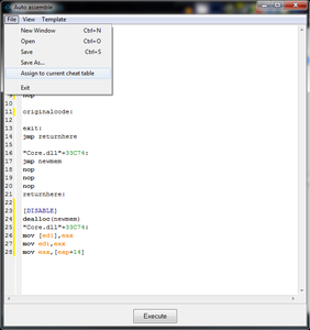 Step 6: Write Assembled Code to Your Cheat List.