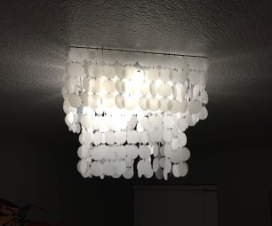 DIY Faux Shell Chandelier - Made With Paper